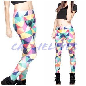 fa73710e78bbc Stasia Pastel Tetris: Digital Printed 3D Leggings. Boutique